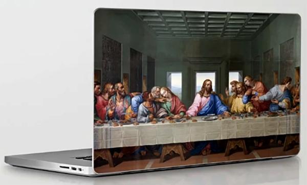 de vinci - le dernier souper (1495 - 1498) - ordinateur portable