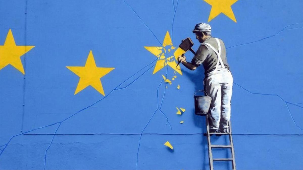 Graffiti de Banksy réalisé à Douvres dpurb