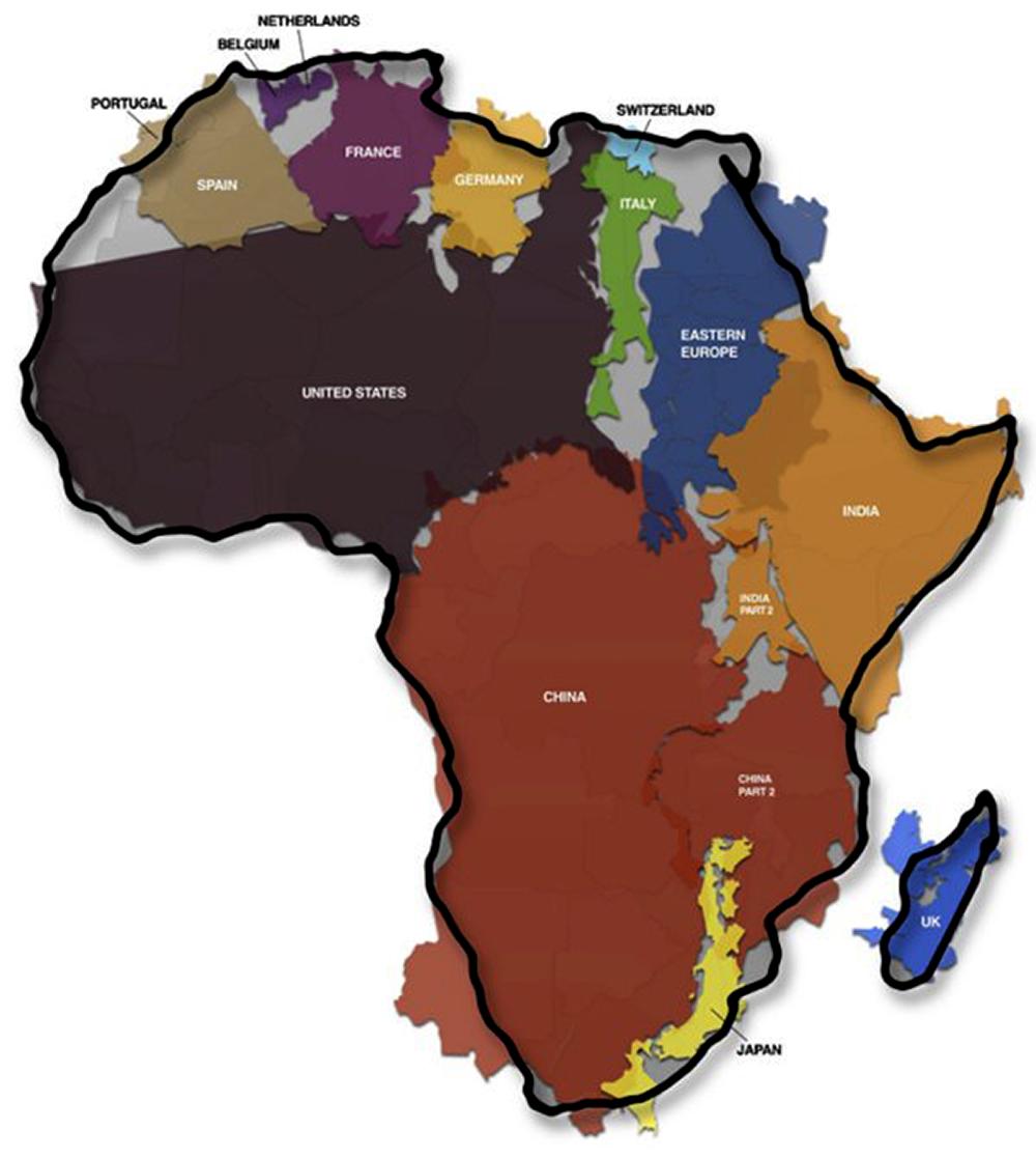 La Taille Du Continent Africain