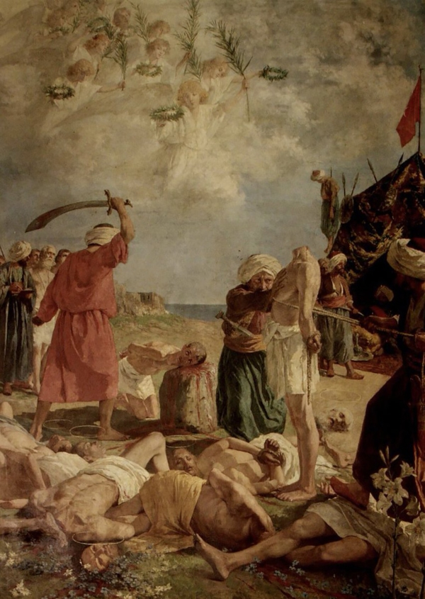 Martyrs of Otranto - 813 inhabitants killed in 1480 for refusing to renounce Christianity.jpg