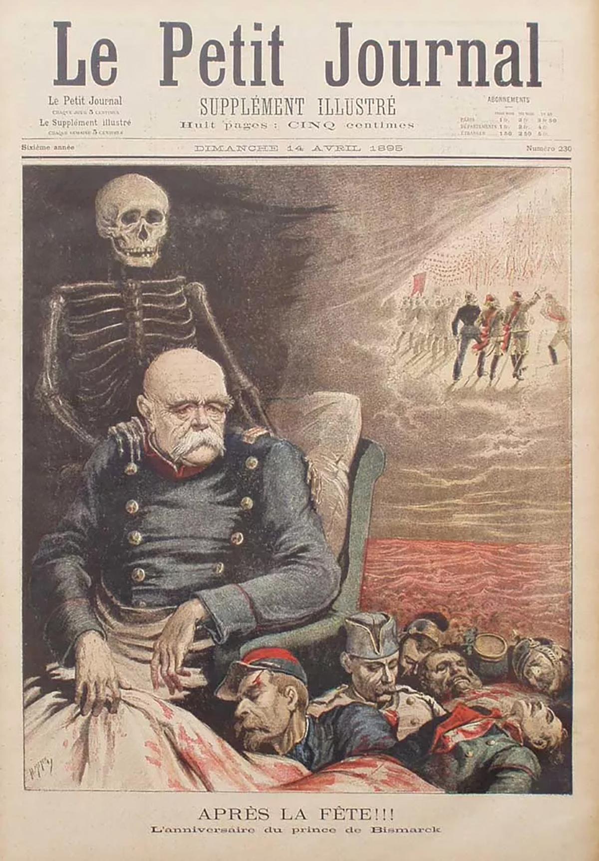 Otto von Bismarck à la Une du Petit journal Avr 1895