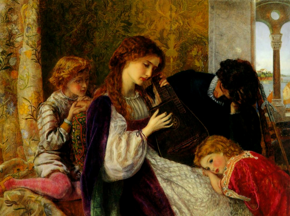 Arthur Hughes - A Music Party 1864