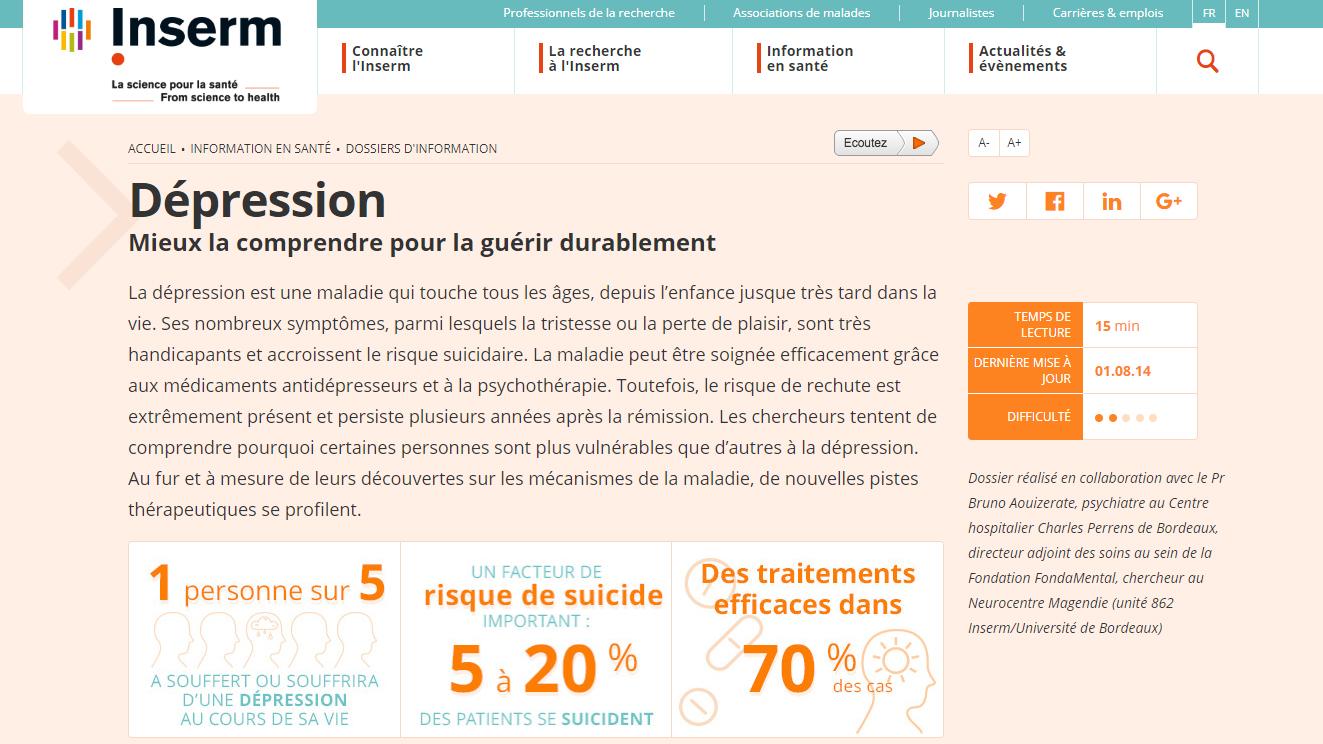 INSERM_Dépression