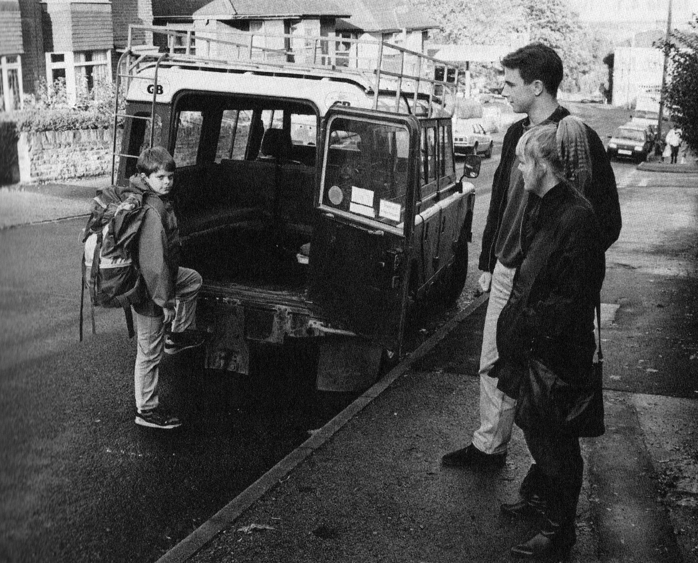 PF - Boy by Land Rover - from Separation Anxiety Test