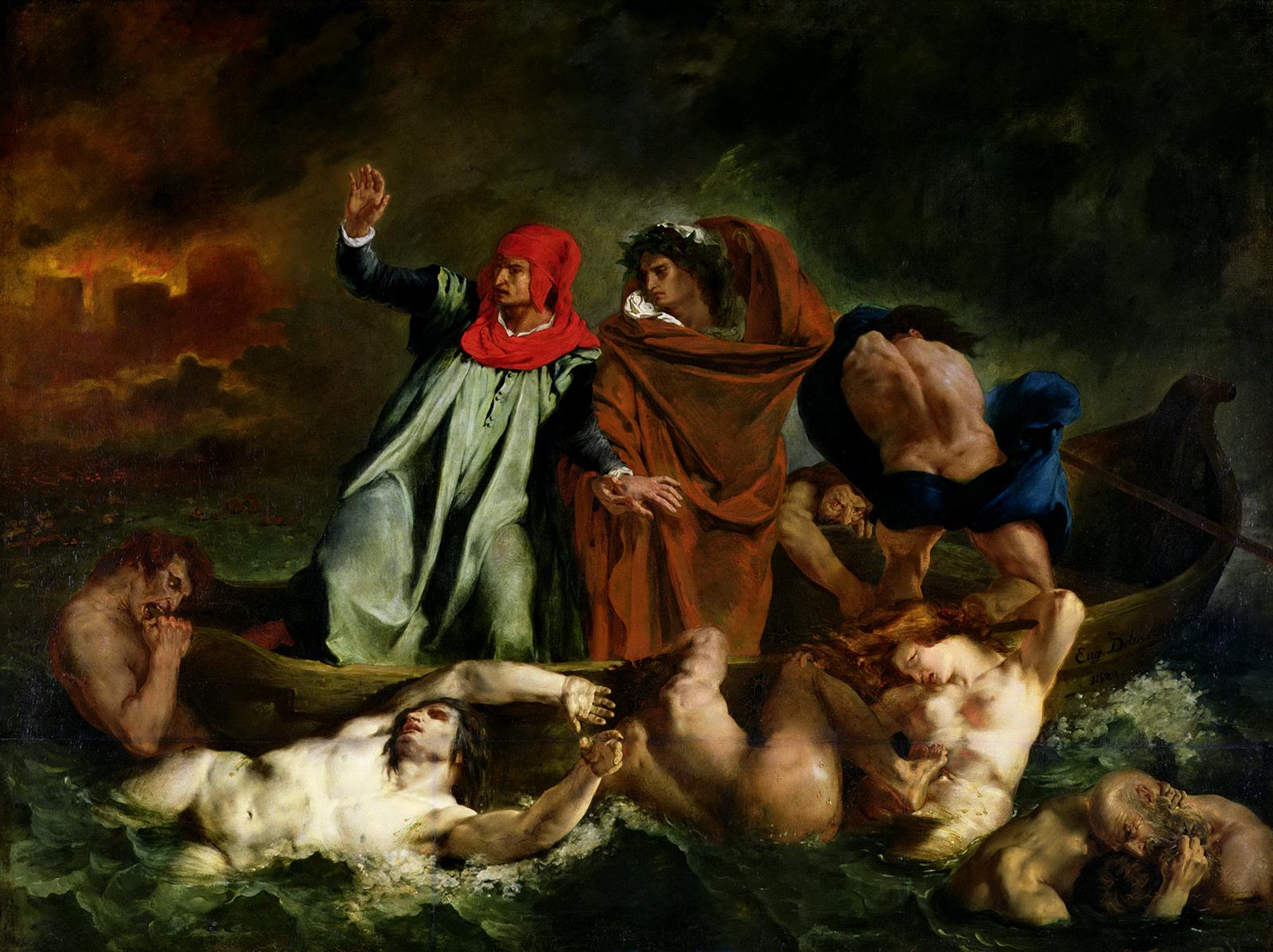 Eugène_Delacroix La Barque de Dante (1822) d'purb dpurb site web.jpg