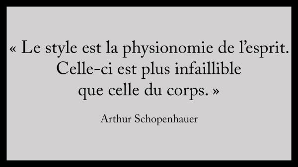 Schopenhauer sur Le Style