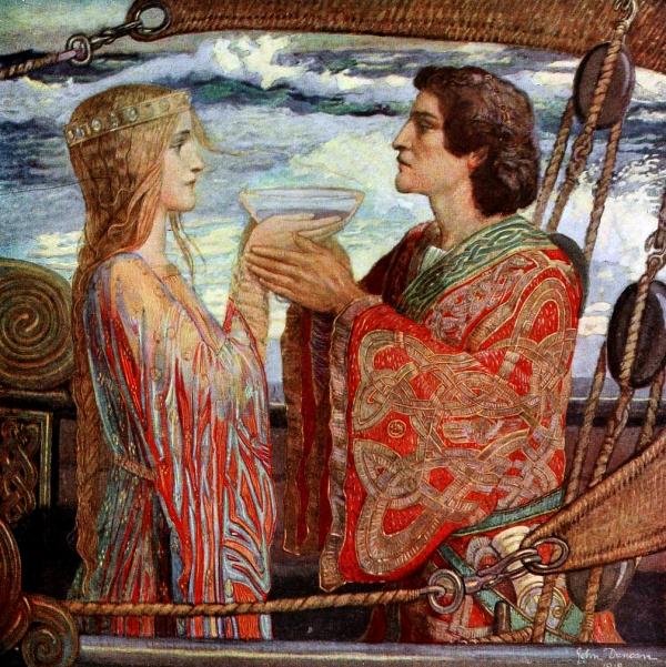 Tristan und Isolde (John Duncan 1912 Symbolism)