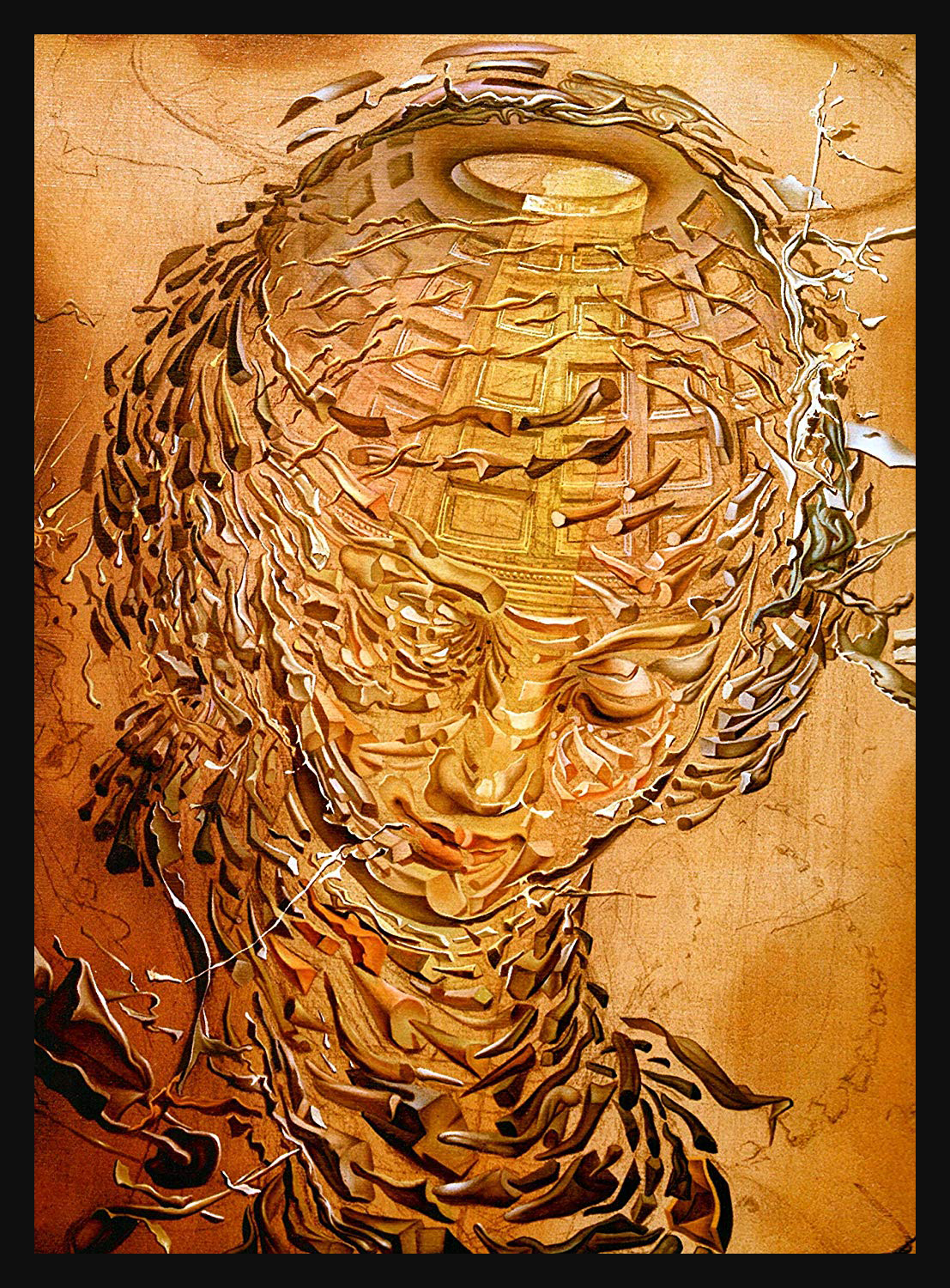 Exploding Raphaelesque Head - Salvador Dali (1951) dpurb d'purb website
