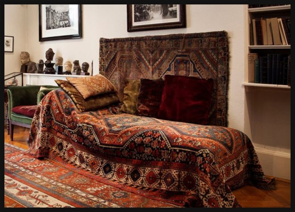 Freud's Couch at Freud Museum London
