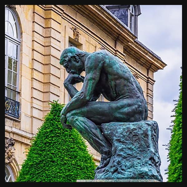 Le Penseur par Auguste Rodin (1882) dpurb site