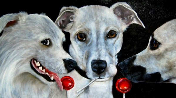White Dogs & Tootsie Pops by Marie Hughes dpurb 1200