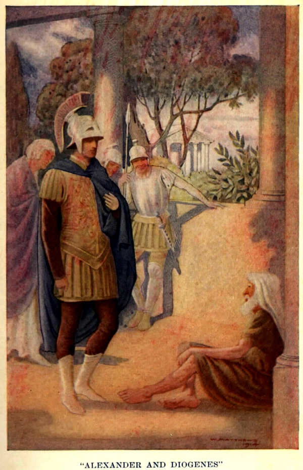 Alexander_visits_Diogenes_at_Corinth_by_W._Matthews_(1914) dpurb site web