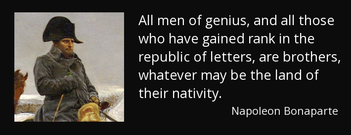 All Men of Genius - Napoleon site web dpurb
