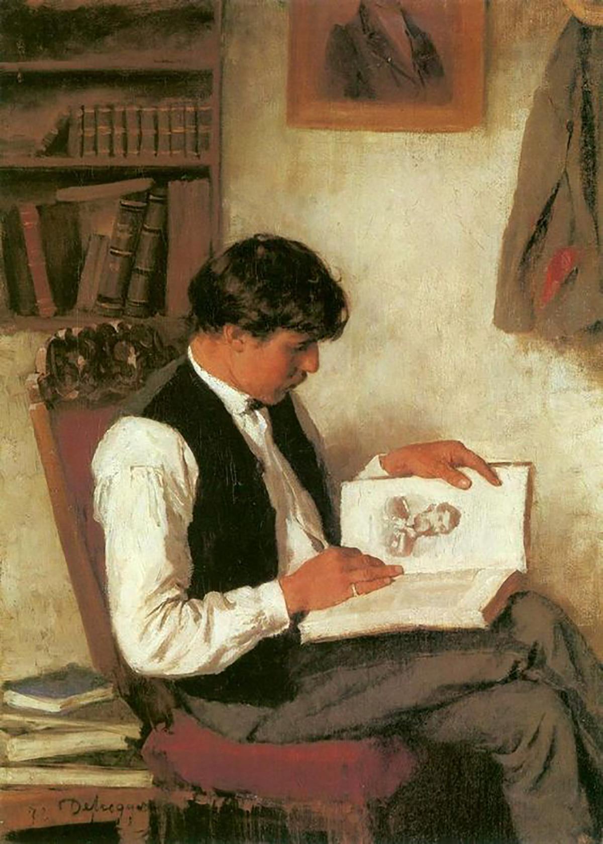 Der Leser - Franz Von Defregger (1835 - 1921).jpg