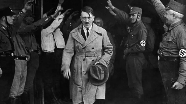 Hitler Walking Out