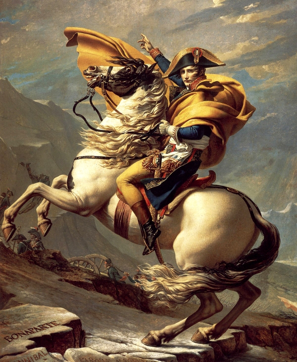 Jacques-Louis David - 1801 - Le Premier Consul franchissant les Alpes au col du Grand Saint-Bernard
