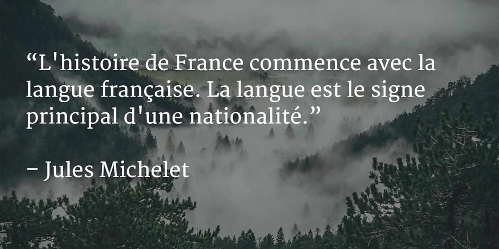 L'histoire de France commence avec la langue française - Jules Michelet - danny d'purb dpurb site web