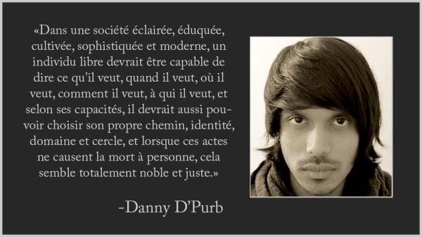 L'individu libre dans une société éclairée Danny D'Purb dpurb site web 2019