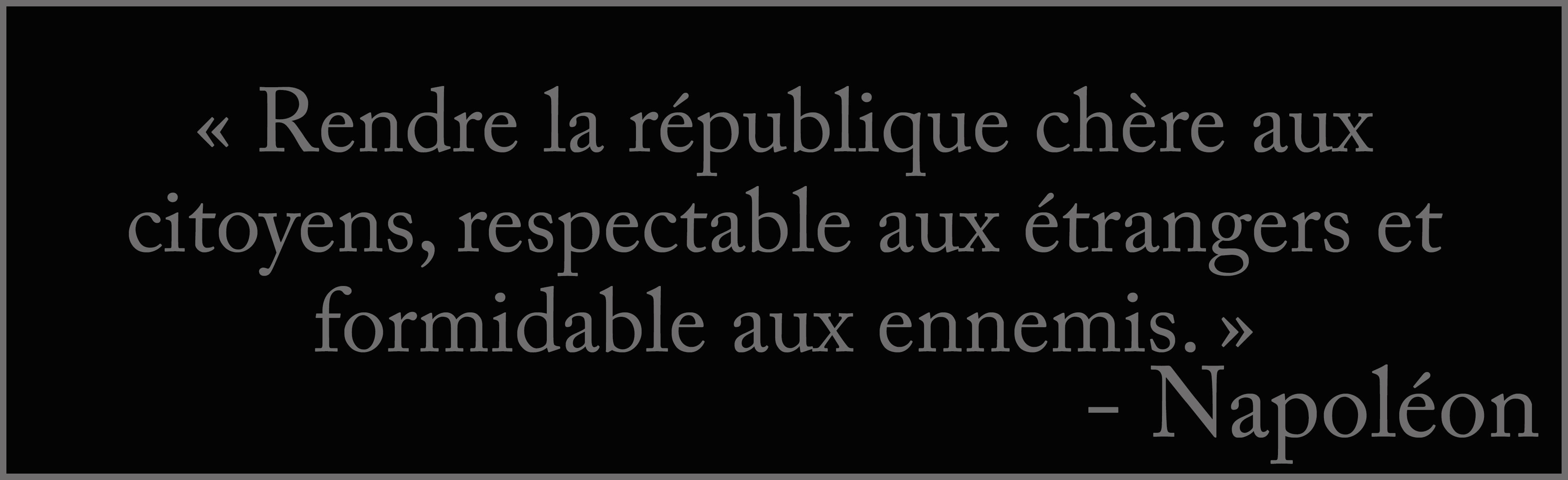 Rendre la république chère aux citoyens, respectable aux étrangers et formidable aux ennemis d'purb dpurb site web