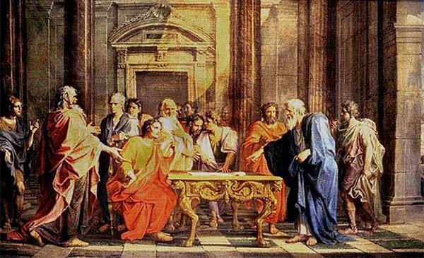 Solon défend ses lois contre les critiques des citoyens athéniens - 1699 - Noel Coypel.jpg