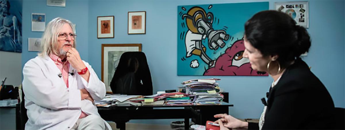 Didier Raoult au micro d'Apolline de Malherbe sur BFM TV d'purb dpurb site web