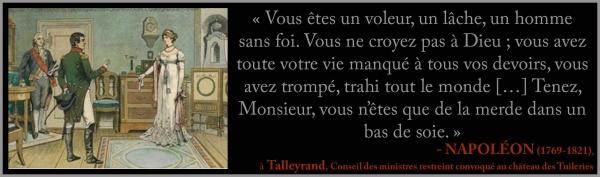 Napoléon à Talleyrand - de la merde dans un bas de soie d'purb dpurb site web